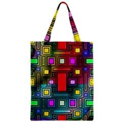 Art Rectangles Abstract Modern Art Zipper Classic Tote Bag