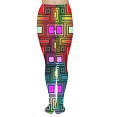 Art Rectangles Abstract Modern Art Women s Tights