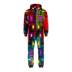 Art Rectangles Abstract Modern Art Hooded Jumpsuit (Kids)