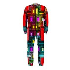 Art Rectangles Abstract Modern Art OnePiece Jumpsuit (Kids)
