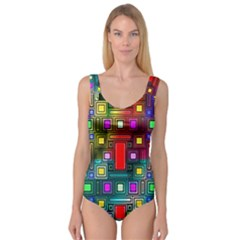 Art Rectangles Abstract Modern Art Princess Tank Leotard