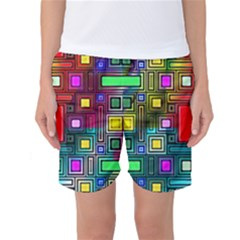 Art Rectangles Abstract Modern Art Women s Basketball Shorts