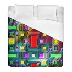 Art Rectangles Abstract Modern Art Duvet Cover (Full/ Double Size)