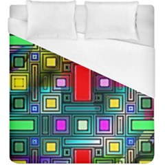 Art Rectangles Abstract Modern Art Duvet Cover (King Size)