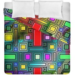 Art Rectangles Abstract Modern Art Duvet Cover Double Side (King Size)