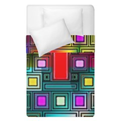 Art Rectangles Abstract Modern Art Duvet Cover Double Side (Single Size)
