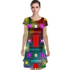 Art Rectangles Abstract Modern Art Cap Sleeve Nightdress