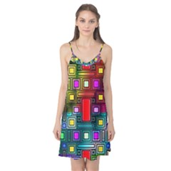 Art Rectangles Abstract Modern Art Camis Nightgown