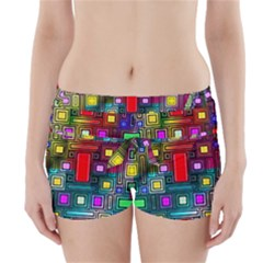 Art Rectangles Abstract Modern Art Boyleg Bikini Wrap Bottoms