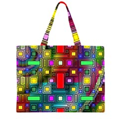 Art Rectangles Abstract Modern Art Large Tote Bag