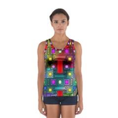 Art Rectangles Abstract Modern Art Women s Sport Tank Top