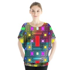 Art Rectangles Abstract Modern Art Blouse