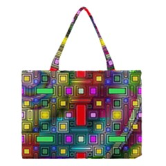 Art Rectangles Abstract Modern Art Medium Tote Bag