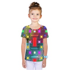 Art Rectangles Abstract Modern Art Kids  One Piece Tee