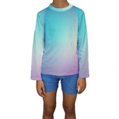 Background Blurry Template Pattern Kids  Long Sleeve Swimwear