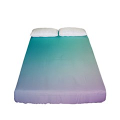 Background Blurry Template Pattern Fitted Sheet (Full/ Double Size)