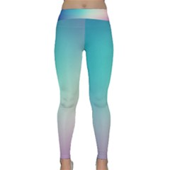 Background Blurry Template Pattern Classic Yoga Leggings