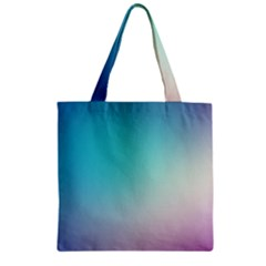 Background Blurry Template Pattern Zipper Grocery Tote Bag