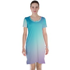 Background Blurry Template Pattern Short Sleeve Nightdress