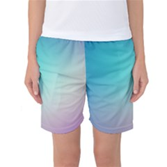 Background Blurry Template Pattern Women s Basketball Shorts