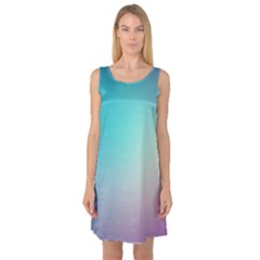 Background Blurry Template Pattern Sleeveless Satin Nightdress