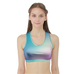 Background Blurry Template Pattern Sports Bra with Border