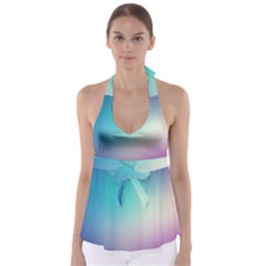 Background Blurry Template Pattern Babydoll Tankini Top