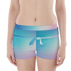 Background Blurry Template Pattern Boyleg Bikini Wrap Bottoms