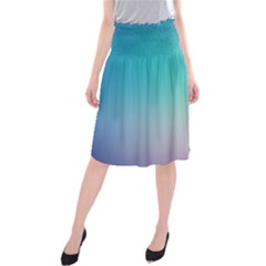 Background Blurry Template Pattern Midi Beach Skirt