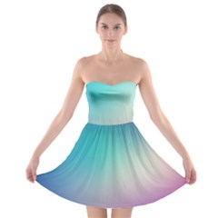 Background Blurry Template Pattern Strapless Bra Top Dress