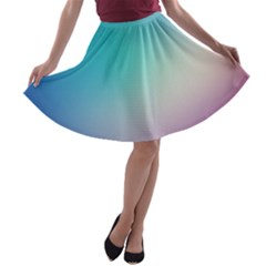 Background Blurry Template Pattern A-line Skater Skirt
