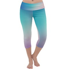 Background Blurry Template Pattern Capri Yoga Leggings