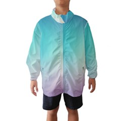 Background Blurry Template Pattern Wind Breaker (Kids)