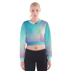 Background Blurry Template Pattern Women s Cropped Sweatshirt