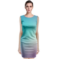 Background Blurry Template Pattern Classic Sleeveless Midi Dress