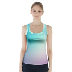 Background Blurry Template Pattern Racer Back Sports Top