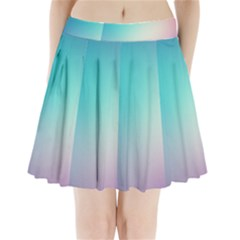 Background Blurry Template Pattern Pleated Mini Skirt