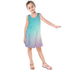 Background Blurry Template Pattern Kids  Sleeveless Dress