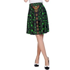 Tulips In The Night Of Stars A-Line Skirt