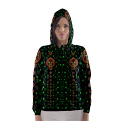 Tulips In The Night Of Stars Hooded Wind Breaker (Women)