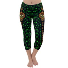 Tulips In The Night Of Stars Capri Winter Leggings