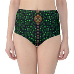 Tulips In The Night Of Stars High-Waist Bikini Bottoms