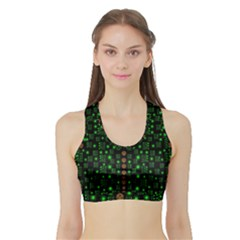 Tulips In The Night Of Stars Sports Bra With Border