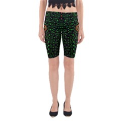 Tulips In The Night Of Stars Yoga Cropped Leggings