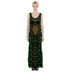 Tulips In The Night Of Stars Maxi Thigh Split Dress