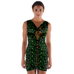 Tulips In The Night Of Stars Wrap Front Bodycon Dress