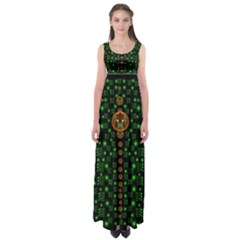 Tulips In The Night Of Stars Empire Waist Maxi Dress