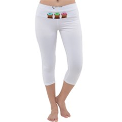 Eat Me Cupcakes Capri Yoga Leggings