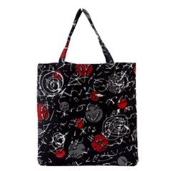 Red mind Grocery Tote Bag