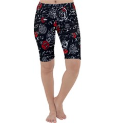 Red mind Cropped Leggings
